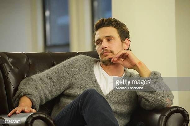 Actor James Franco promotes his new book 'A California Childhood' at Strand Bookstore on August 9 2013 in New York City