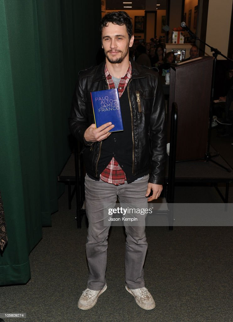 Actor James Franco signs copies of his latest book 'Palo Alto' at Barnes Noble Tribeca on October 20 2010 in New York City