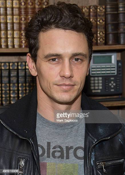 Actor James Franco signs his art project 'Magic Mountain/Home Movies' at the Strand Bookstore on November 5 2015 in New York City