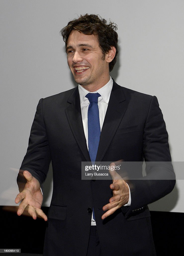Actor <a gi-track='captionPersonalityLinkClicked' href=/galleries/search?phrase=James+Franco&family=editorial&specificpeople=577480 ng-click='$event.stopPropagation()'>James Franco</a> speaks onstage at the Gucci Hosted Private Screening And Cocktail Party With <a gi-track='captionPersonalityLinkClicked' href=/galleries/search?phrase=James+Franco&family=editorial&specificpeople=577480 ng-click='$event.stopPropagation()'>James Franco</a> To Present 'The Director' during the 2013 Toronto International Film Festival held at Thompson Hotel Rooftop on September 8, 2013 in Toronto, Canada.