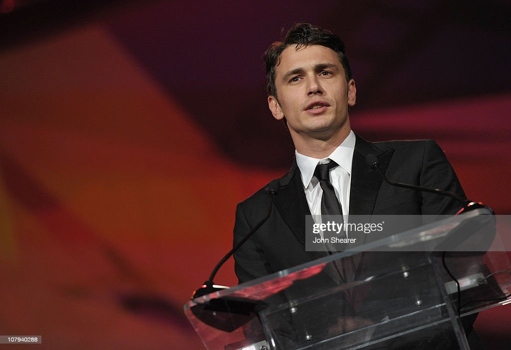 Actor <a gi-track='captionPersonalityLinkClicked' href=/galleries/search?phrase=James+Franco&family=editorial&specificpeople=577480 ng-click='$event.stopPropagation()'>James Franco</a> speaks onstage during the 22nd Annual Palm Springs International Film Festival Awards Gala at the Palm Springs Convention Center on January 8, 2011 in Palm Springs, California.
