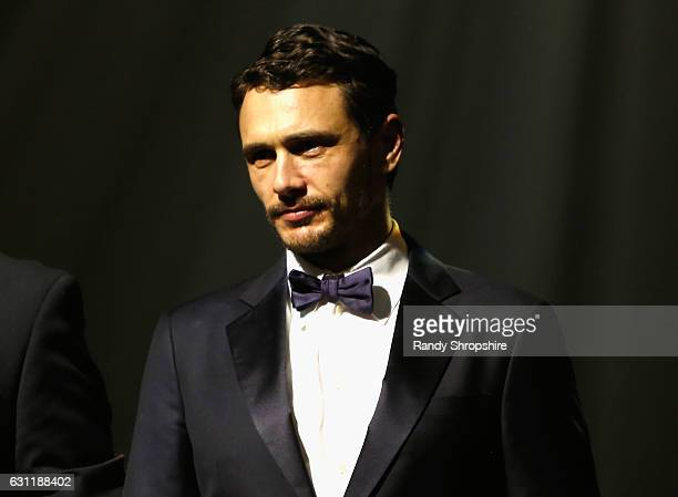 Actor James Franco speaks onstage during The Art of Elysium presents Stevie Wonder's HEAVEN Celebrating the 10th Anniversary at Red Studios on...