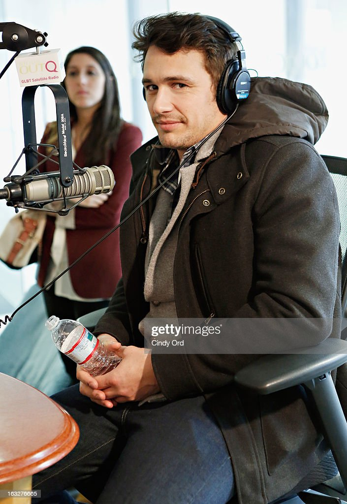 Actor James Franco visits 'The Morning Jolt With Larry Flick' at the SiriusXM Studios on March 6, 2013 in New York City.