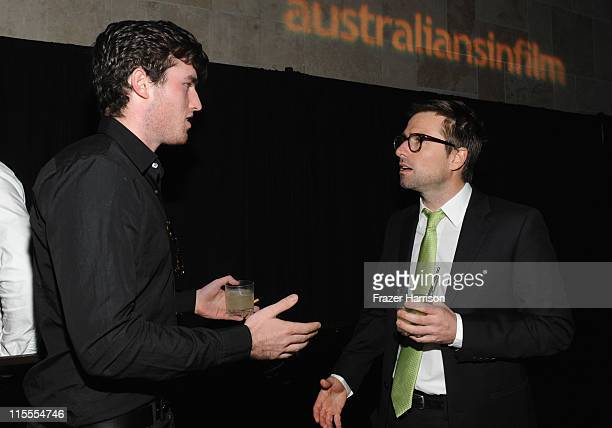 Actor James Frecheville and honoree David Michod attend Australians in Film's 2011 Breakthrough Awards at the Thompson Hotel on June 7 2011 in...