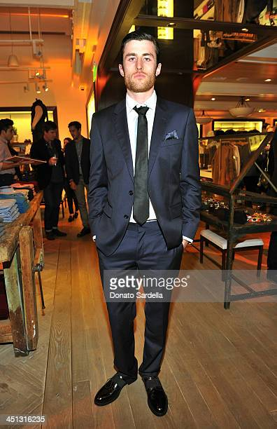 Actor James Frecheville attend Tommy Hilfiger And PS ARTS celebrate the Cameron Silver Vintage Capsule Collection on November 21 2013 in West...
