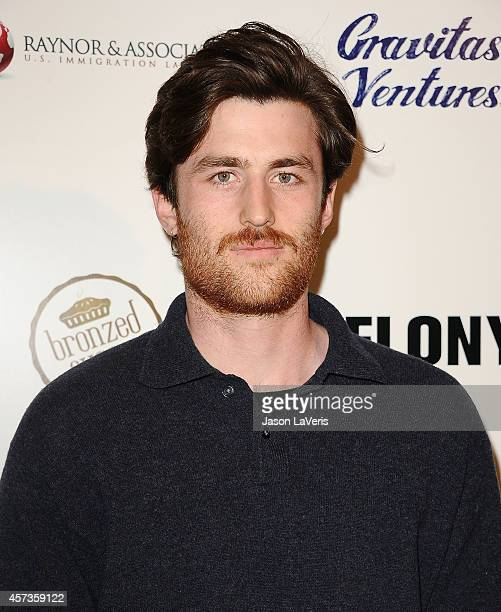 Actor James Frecheville attends the premiere of 'Felony' at Harmony Gold Theatre on October 16 2014 in Los Angeles California