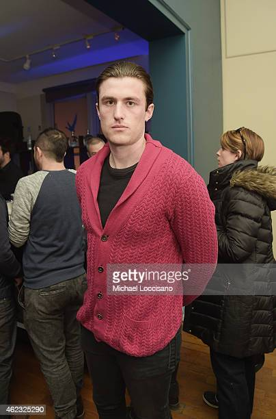 Actor James Frecheville attends the 'The Stanford Prison Experiment' cast party at the GREY GOOSE Blue Door at Sundance on January 26 2015 in Park...