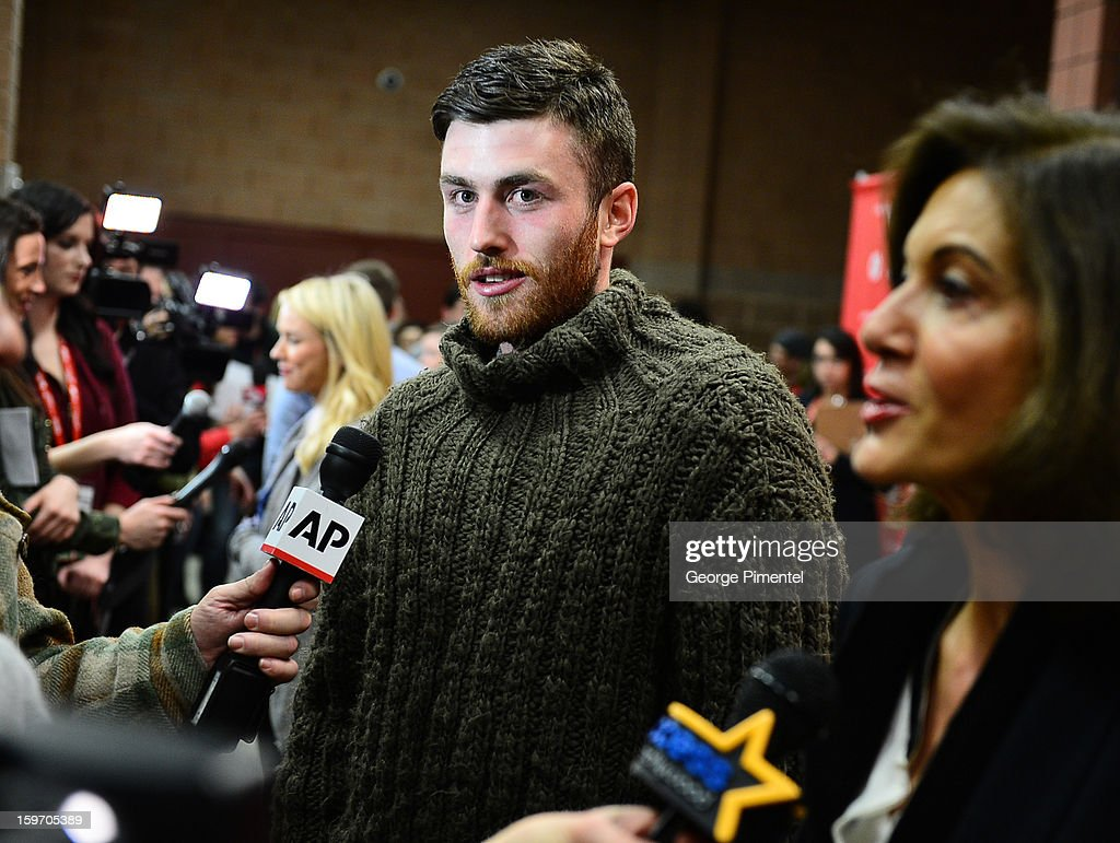 Actor James Frecheville attends the 'Two Mothers' Premiere during the 2013 Sundance Film Festival at Eccles Center Theatre on January 18, 2013 in Park City, Utah.