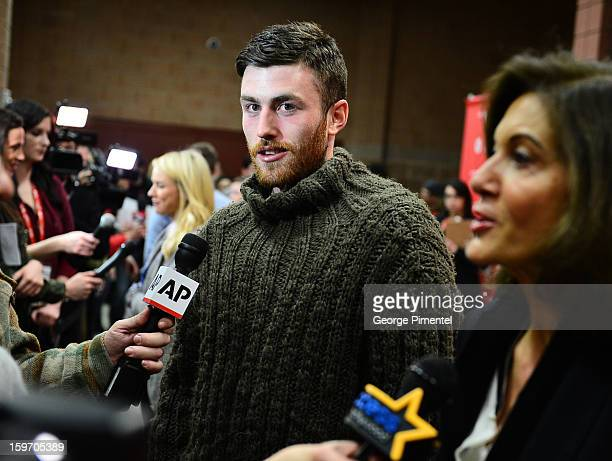 Actor James Frecheville attends the 'Two Mothers' Premiere during the 2013 Sundance Film Festival at Eccles Center Theatre on January 18 2013 in Park...