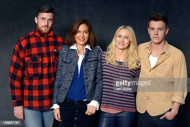 Actor James Frecheville filmmaker Anne Fontaine actors Naomi Watts and Xavier Samuel pose for a portrait during the 2013 Sundance Film Festival at...