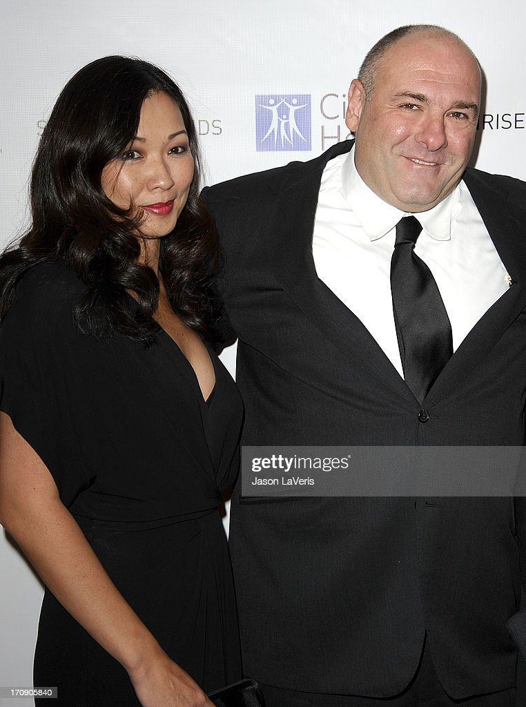 Actor James Gandolfini (R) and wife Deborah Lin attend the 2011 City Of Hope Gala at Soho House on November 20, 2011 in West Hollywood, California.
