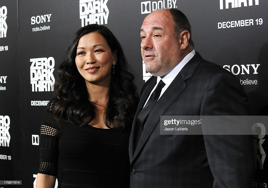 Actor <a gi-track='captionPersonalityLinkClicked' href=/galleries/search?phrase=James+Gandolfini&family=editorial&specificpeople=171463 ng-click='$event.stopPropagation()'>James Gandolfini</a> (R) and wife <a gi-track='captionPersonalityLinkClicked' href=/galleries/search?phrase=Deborah+Lin&family=editorial&specificpeople=4214066 ng-click='$event.stopPropagation()'>Deborah Lin</a> attend the premiere of 'Zero Dark Thirty' at the Dolby Theatre on December 10, 2012 in Hollywood, California.