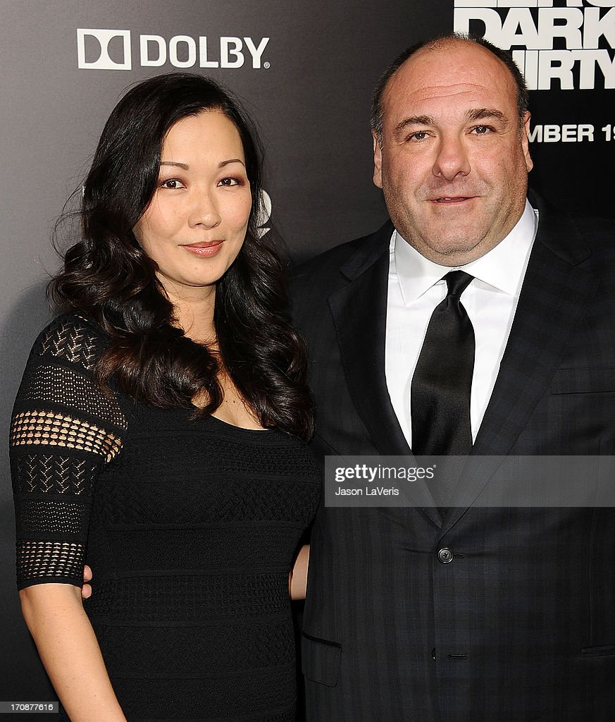 Actor James Gandolfini (R) and wife Deborah Lin attends the premiere of 'Zero Dark Thirty' at the Dolby Theatre on December 10, 2012 in Hollywood, California.