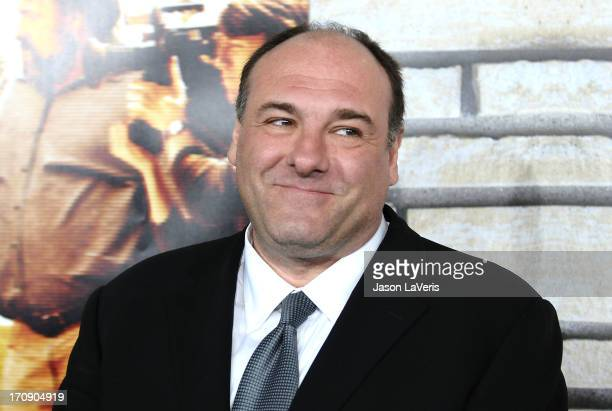 Actor James Gandolfini attends the premiere of 'Cinema Verite' at Paramount Theater on the Paramount Studios lot on April 11 2011 in Hollywood...