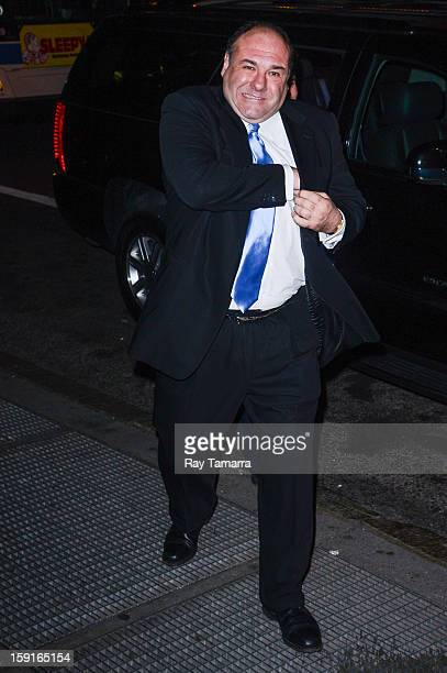 Actor James Gandolfini enters Cipriani 42nd Street on January 8 2013 in New York City