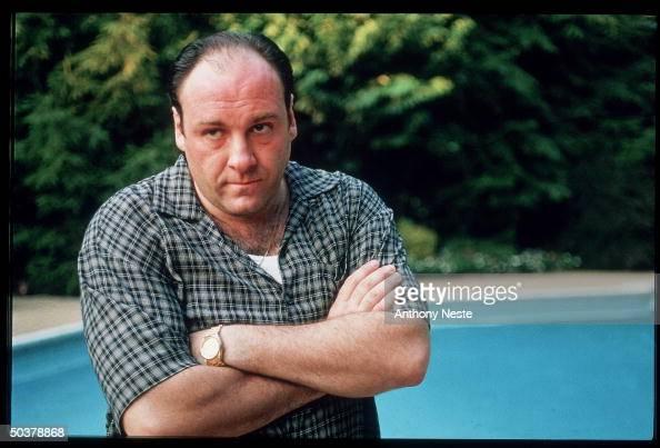 Actor James Gandolfini in scene from HBO TV drama series The Sopranos