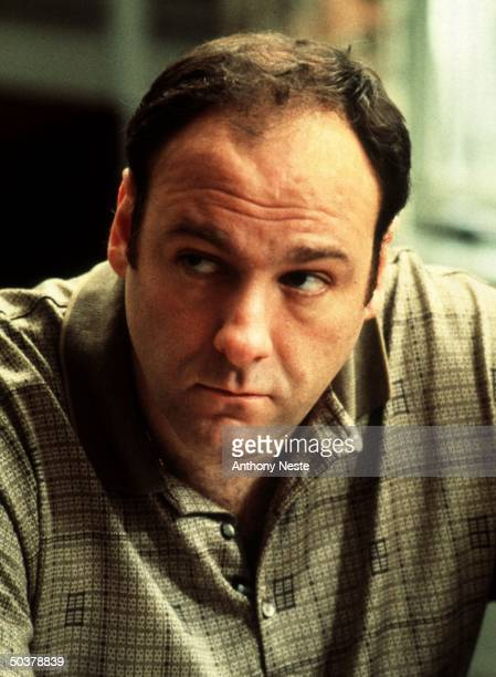 Actor James Gandolfini in undated publicity portrait for HBO TV drama series The Sopranos