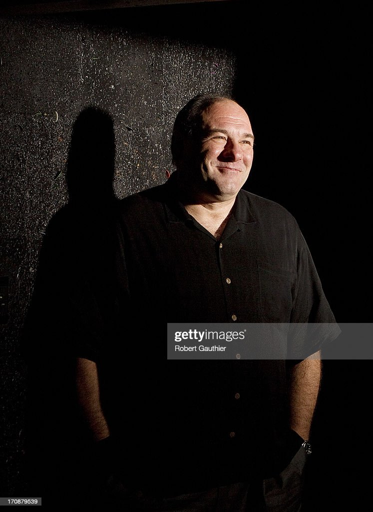 Actor James Gandolfini is photographed for Los Angeles Times on November 30, 2012 in Hollywood, California. PUBLISHED IMAGE.