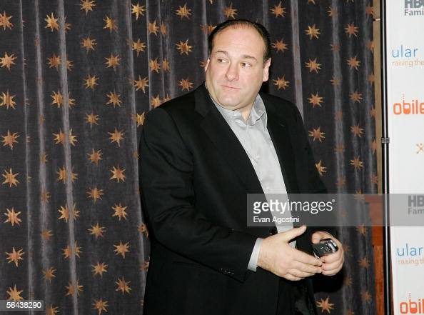 Actor James Gandolfini of the HBO Series 'The Sopranos' appears after the Cingular Wireless 'Cingular Video' launch and HBO's content partnership...