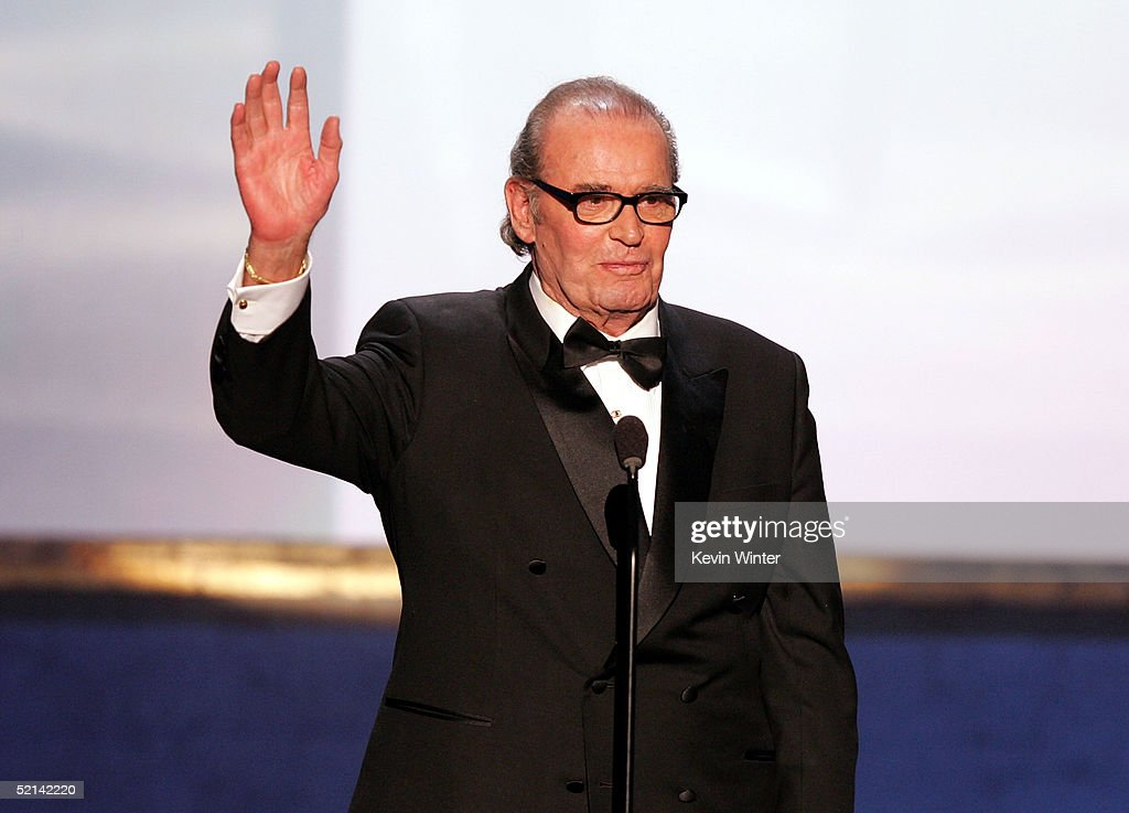 Actor <a gi-track='captionPersonalityLinkClicked' href=/galleries/search?phrase=James+Garner&family=editorial&specificpeople=206254 ng-click='$event.stopPropagation()'>James Garner</a> speaks onstage during the 11th Annual Screen Actors Guild Awards at the Los Angeles Shrine Exposition Center on February 5, 2005 in Los Angeles, California.