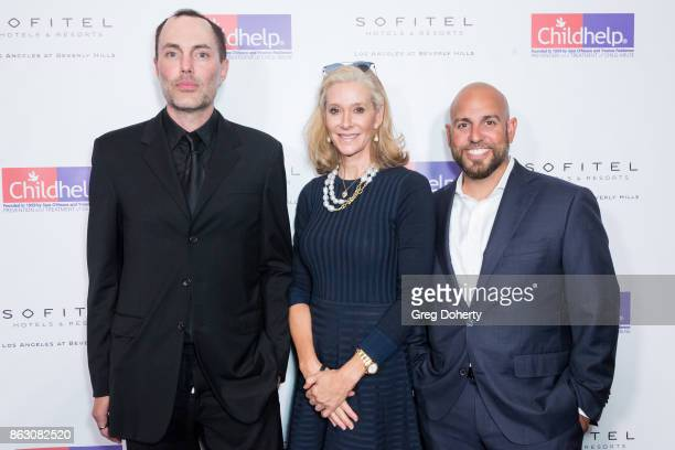 Actor James Haven Dru Hammer and Chief Development Officer at ChildHelp Inc Michael Medoro arrive for the Childhelp Hosts An Evening Celebrating...