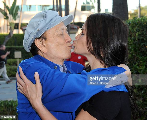 Actor James Hong and actress Katrina Law arrive for the 4th Annual Variety The Children's Charity Of Southern CA Texas Hold 'Em Poker Tournament held...