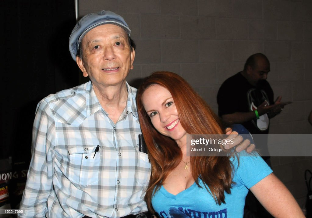 Actor James Hong and actress Lisa Cash participate in Stan Lee's Comickaze Expo 2nd Annual Pop Culture Convention Day 2 held at Los Angeles...