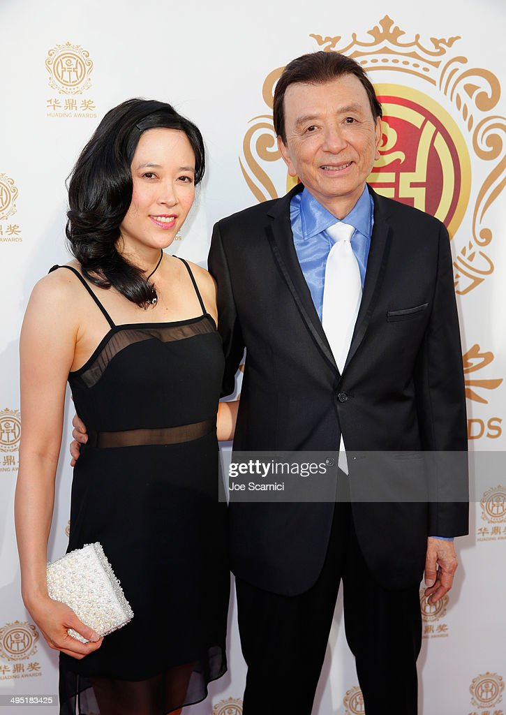 Actor James Hong and April Hong attend the Huading Film Awards on June 1 2014 at Ricardo Montalban Theatre in Los Angeles California Huading Film...