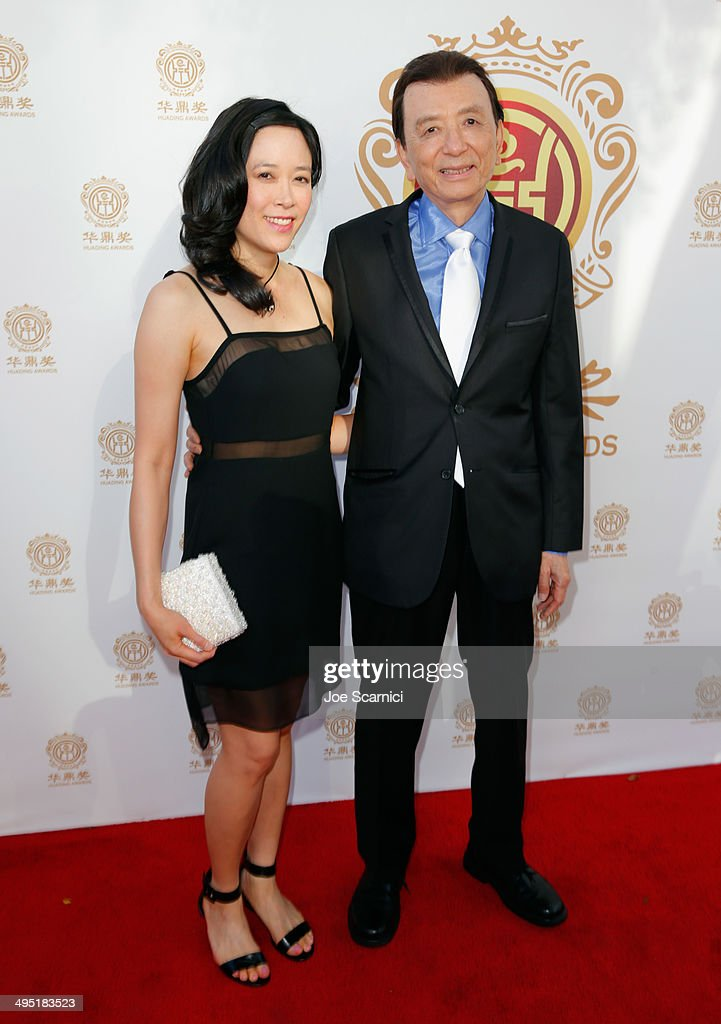 Actor James Hong (R) and April Hong attend the Huading Film Awards on June 1, 2014 at Ricardo Montalban Theatre in Los Angeles, California. Huading Film Awards is China's #1 Film awards, in the U.S. for the first time.