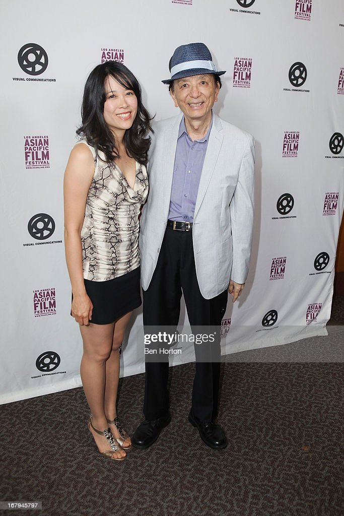 Actor <a gi-track='captionPersonalityLinkClicked' href=/galleries/search?phrase=James+Hong&family=editorial&specificpeople=2131387 ng-click='$event.stopPropagation()'>James Hong</a> (R) and his daughter attend the 2013 LA Asian Pacific Film Festival - opening night premiere of 'Linsanity' at the Directors Guild Of America on May 2, 2013 in Los Angeles, California.