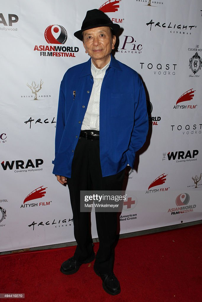 Actor James Hong arrives at the Asian World Film Festival opening night red carpet awards gala and film at The Culver Hotel on October 26 2015 in...