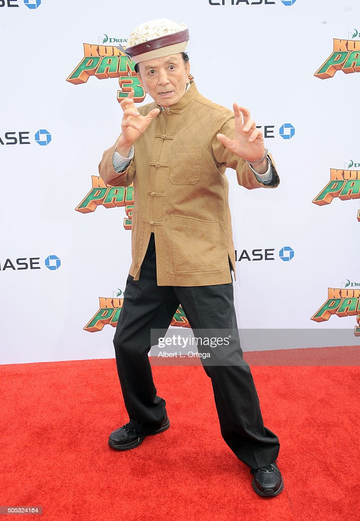Actor James Hong arrives for the Premiere Of DreamWorks Animation And Twentieth Century Fox's 'Kung Fu Panda 3' held at TCL Chinese Theatre on...
