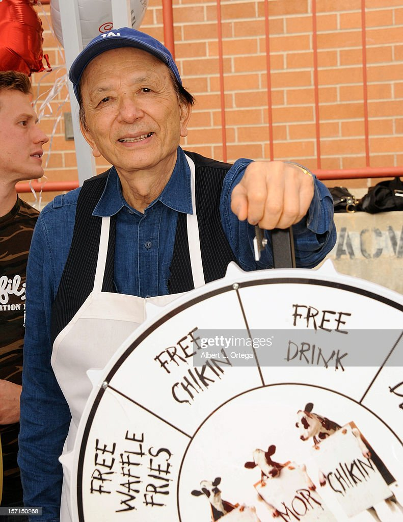 Actor James Hong participates in the Hollywood Chamber of Commerce's annual police and firefighters appreciation day at the Hollywood LAPD station on November 28, 2012 in Hollywood, California.