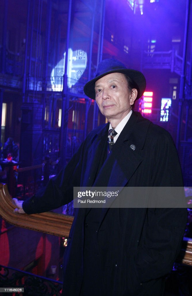 Actor James Hong poses during the After Party inside the historic Bradbury Building after the film received the Artistic Achievement Award at the...