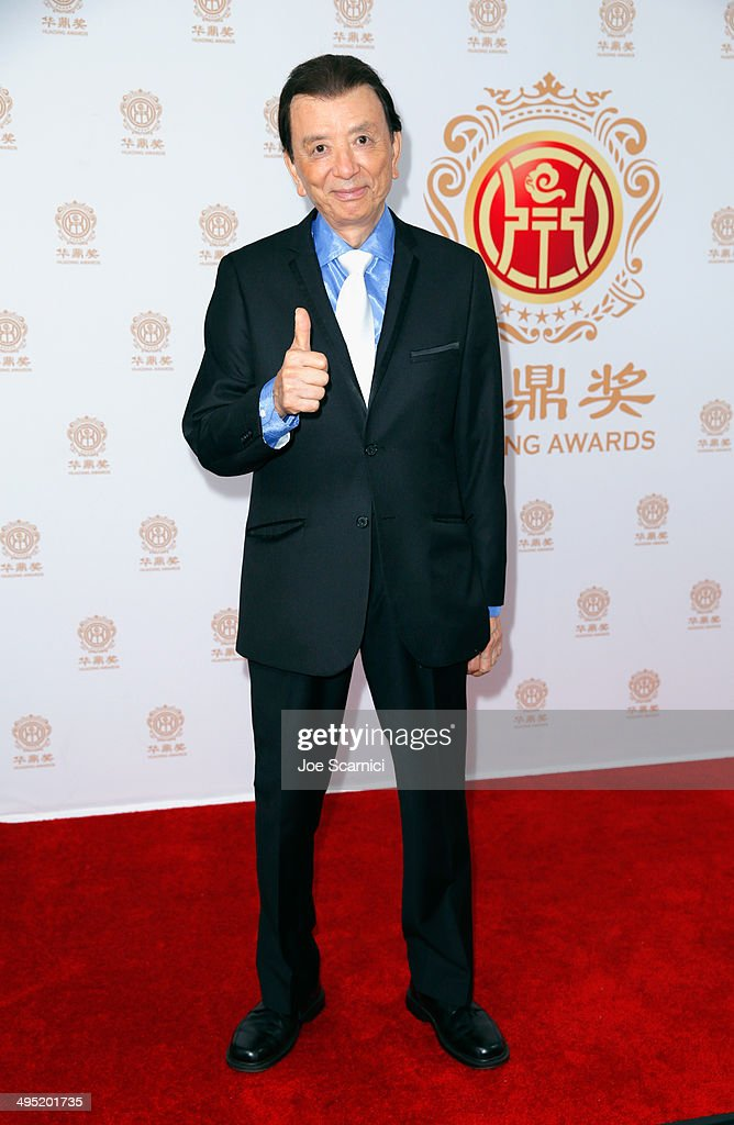Actor James Hong poses in the press room during the Huading Film Awards on June 1 2014 at Ricardo Montalban Theatre in Los Angeles California Huading...
