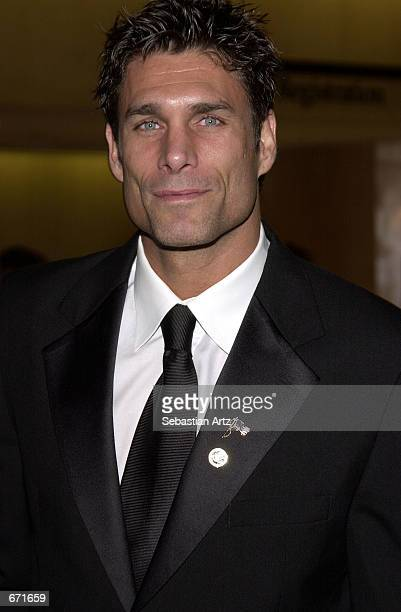 Actor James Hyde arrives at 'An Evening With The Stars' blacktie dinner for pancreatic cancer November 17 2001 in Beverly Hills CA