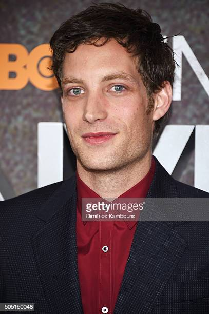 Actor James Jagger attends the New York premiere of 'Vinyl' at Ziegfeld Theatre on January 15 2016 in New York City