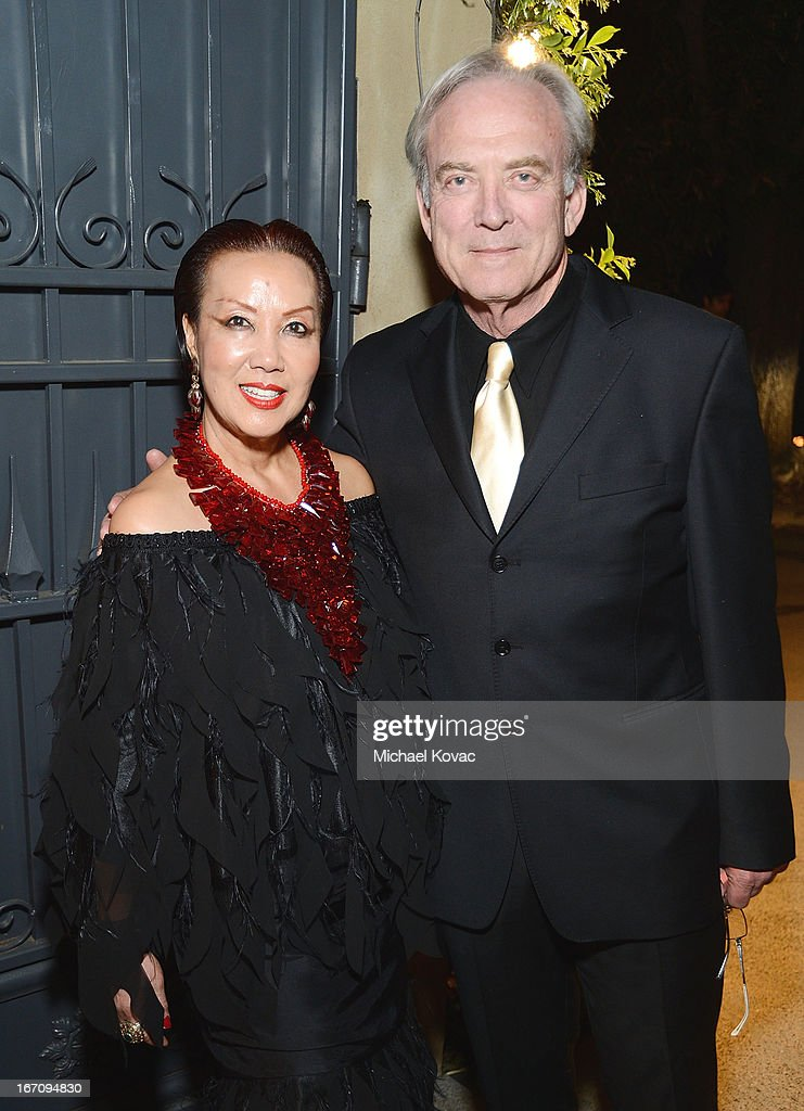 Actor <a gi-track='captionPersonalityLinkClicked' href=/galleries/search?phrase=James+Keach&family=editorial&specificpeople=539602 ng-click='$event.stopPropagation()'>James Keach</a> (R) and designer Sue Wong attend the Sue Wong Fall 2013 Great Gatsby Collection Unveiling and Birthday Celebration on April 19, 2013 in Los Angeles, California.
