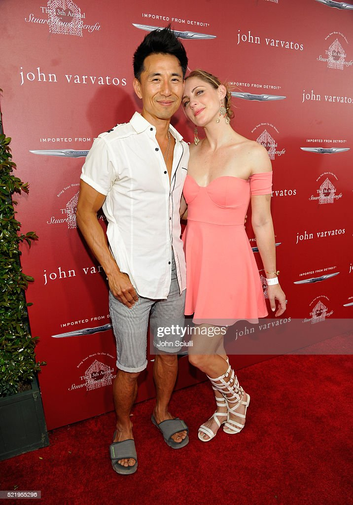 Actor James Kyson and Jamee Mae Kyson attend the John Varvatos 13th Annual Stuart House benefit presented by Chrysler with Kids' Tent by Hasbro...