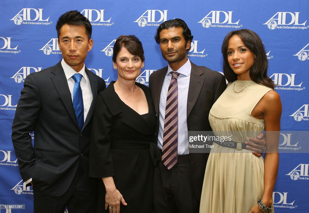 Actor James Kyson Lee Actress Cristine Rose Actor Sendhil Ramamurthy and Actress Dania Ramirez arrive at the AntiDefamation League Entertainment...