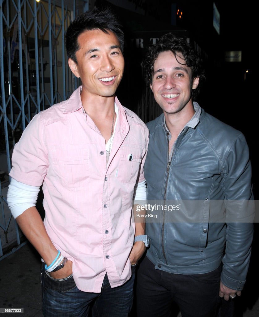 Actor James Kyson Lee and singer/actor Thomas Ian Nicholas of Thomas Nicholas Band at the CD release party for 'Heroes Are Human' at Molly Malone's...