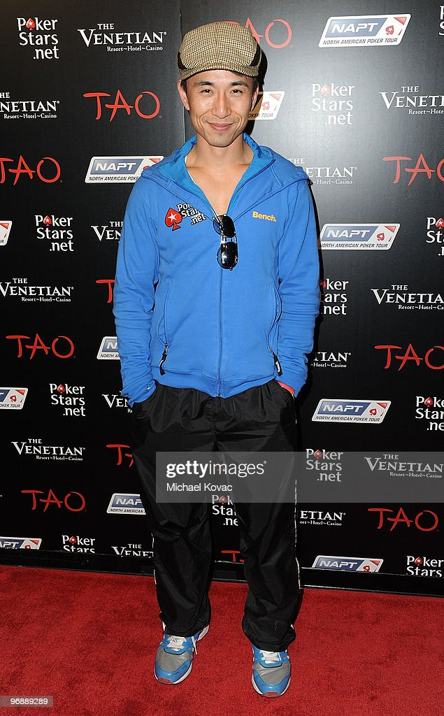 Actor James Kyson Lee attends the Pokerstarsnet after party with performance by TPain at TAO Nightclub at the Venetian on February 19 2010 in Las...
