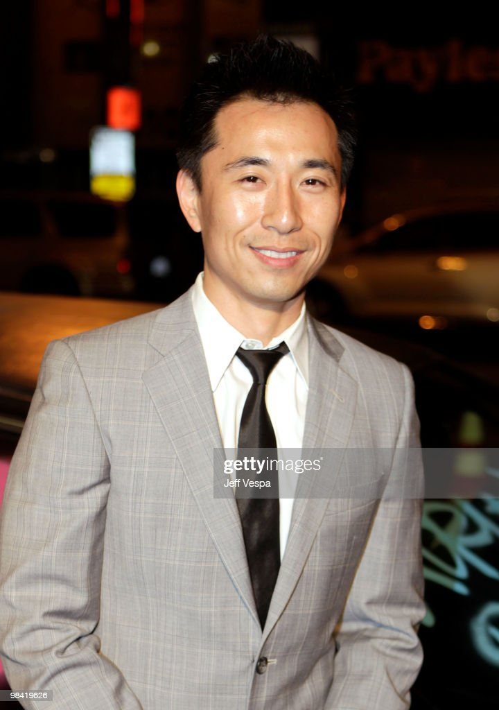 Actor James KysonLee arrives at Banksy's 'Exit Through The Gift Shop' premiere at Los Angeles Theatre on April 12 2010 in Los Angeles California