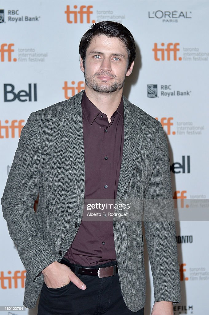 Actor <a gi-track='captionPersonalityLinkClicked' href=/galleries/search?phrase=James+Lafferty&family=editorial&specificpeople=214146 ng-click='$event.stopPropagation()'>James Lafferty</a> attends the 'Oculus' premiere during the 2013 Toronto International Film Festival at Ryerson Theatre on September 8, 2013 in Toronto, Canada.