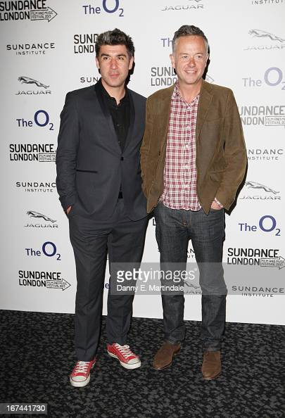 Actor James Lance and director Michael Winterbottom attend the'The Look Of Love' screening during the Sundance London Film and Music Festival 2013 at...