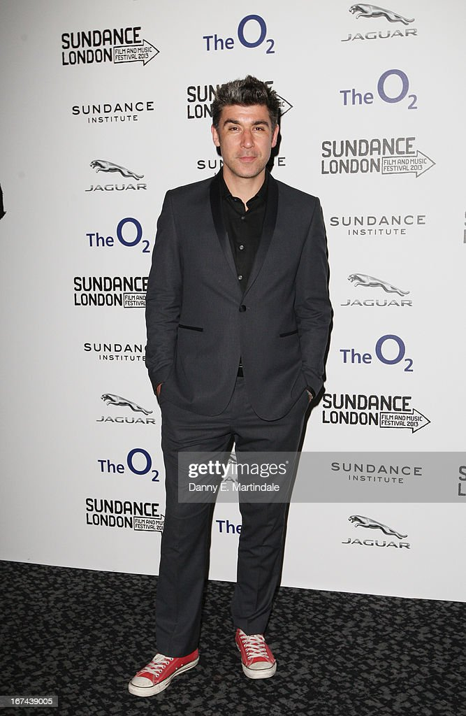 Actor James Lance attends the'The Look Of Love' screening during the Sundance London Film and Music Festival 2013 at Sky Superscreen O2 on April 25...