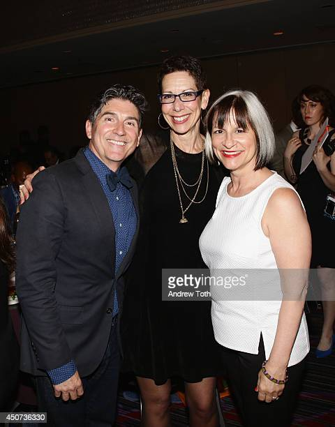 Actor James Lecesne The Trevor Project Executive Director CEO Abbe Land and The Trevor Project founder Peggy Rajski attend the Trevor Project's 2014...