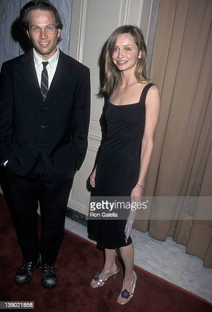 Actor James LeGros and actress Calista Flockhart attend A Family Celebration Second Annual Gala on April 1 2001 at Beverly Wilshire Hotel in Beverly...