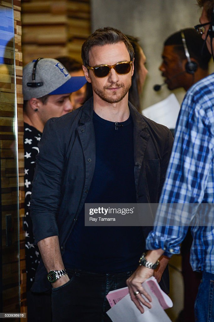 Actor James MacAvoy enters the 'Good Morning America' taping at the ABC Times Square Studios on May 24, 2017 in New York City.
