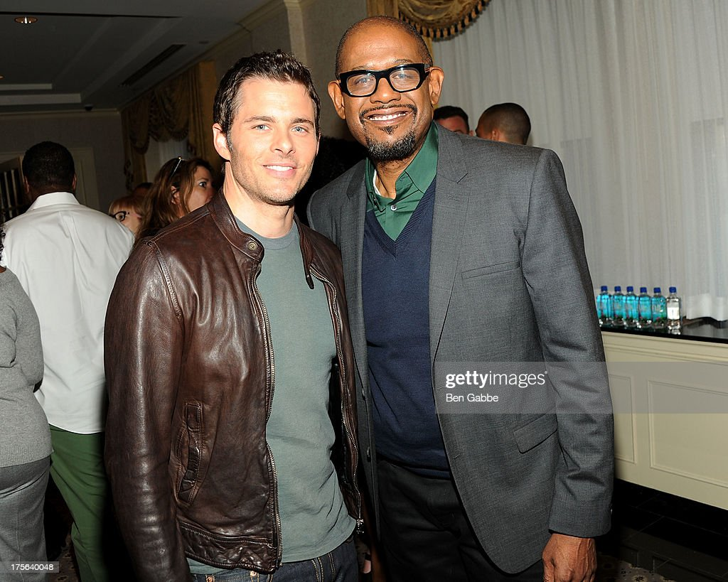 Actor James Marsden (L) and actor Forest Whitaker attend the press conference for The Weinstein Company's LEE DANIELS' THE BUTLER at Waldorf Astoria Hotel on August 5, 2013 in New York City.